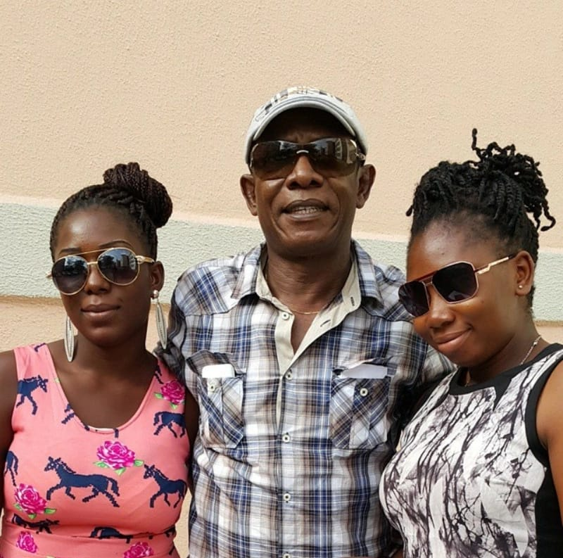 Nkem Owoh and his daughters