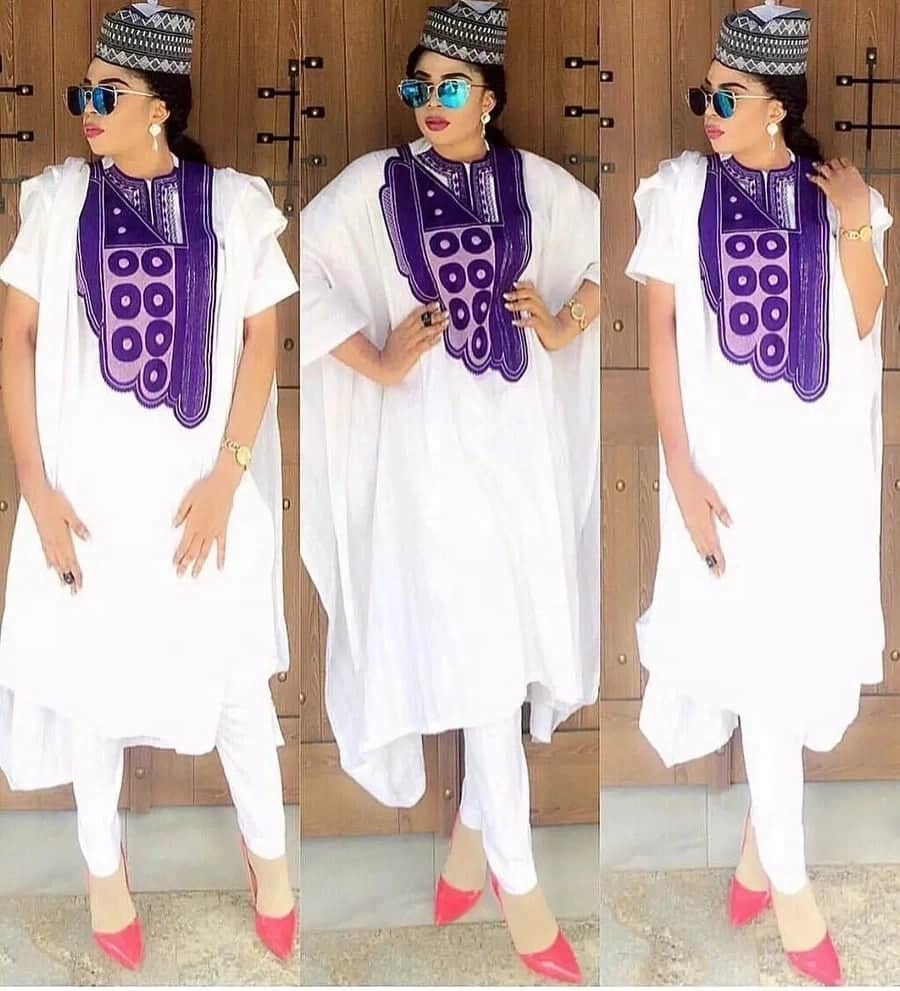 Agbada style with embroidery