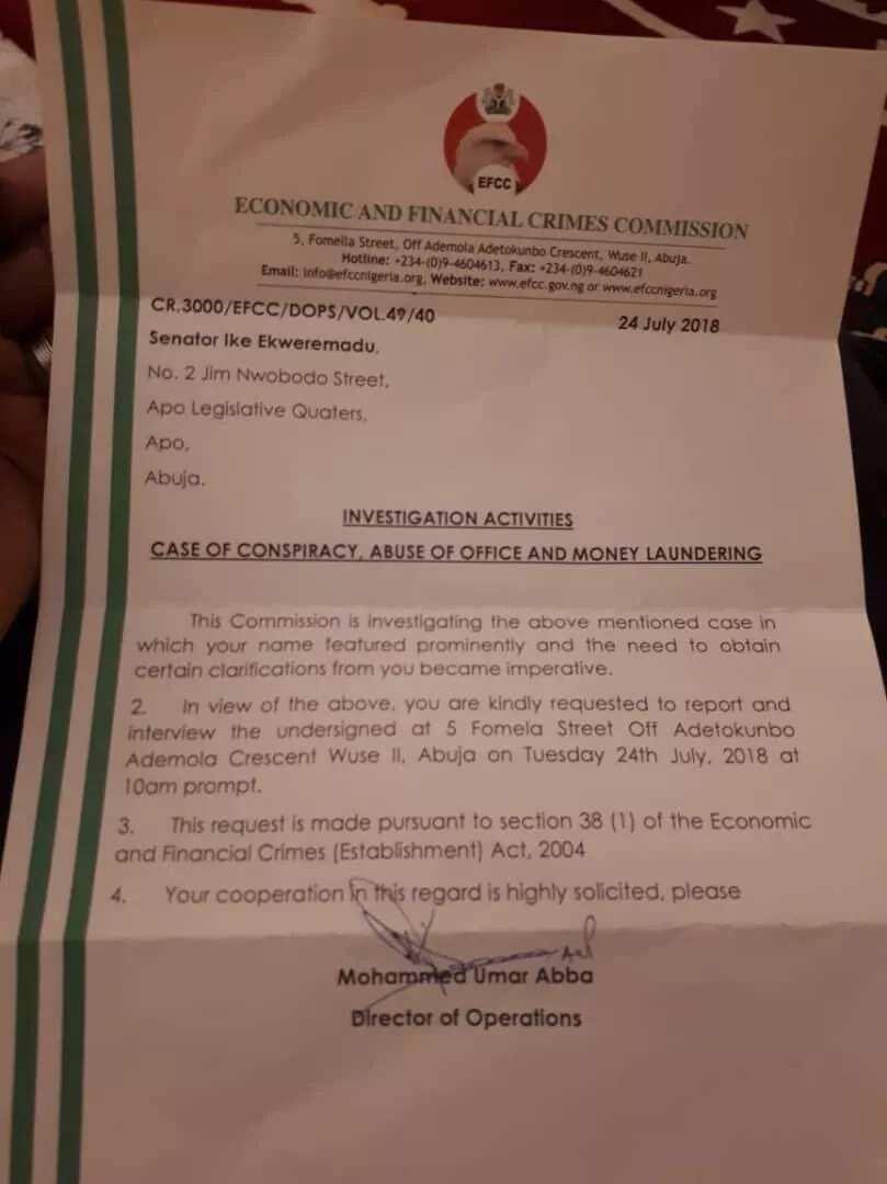 EFCC invites Ekweremadu for questioning over alleged money laundering