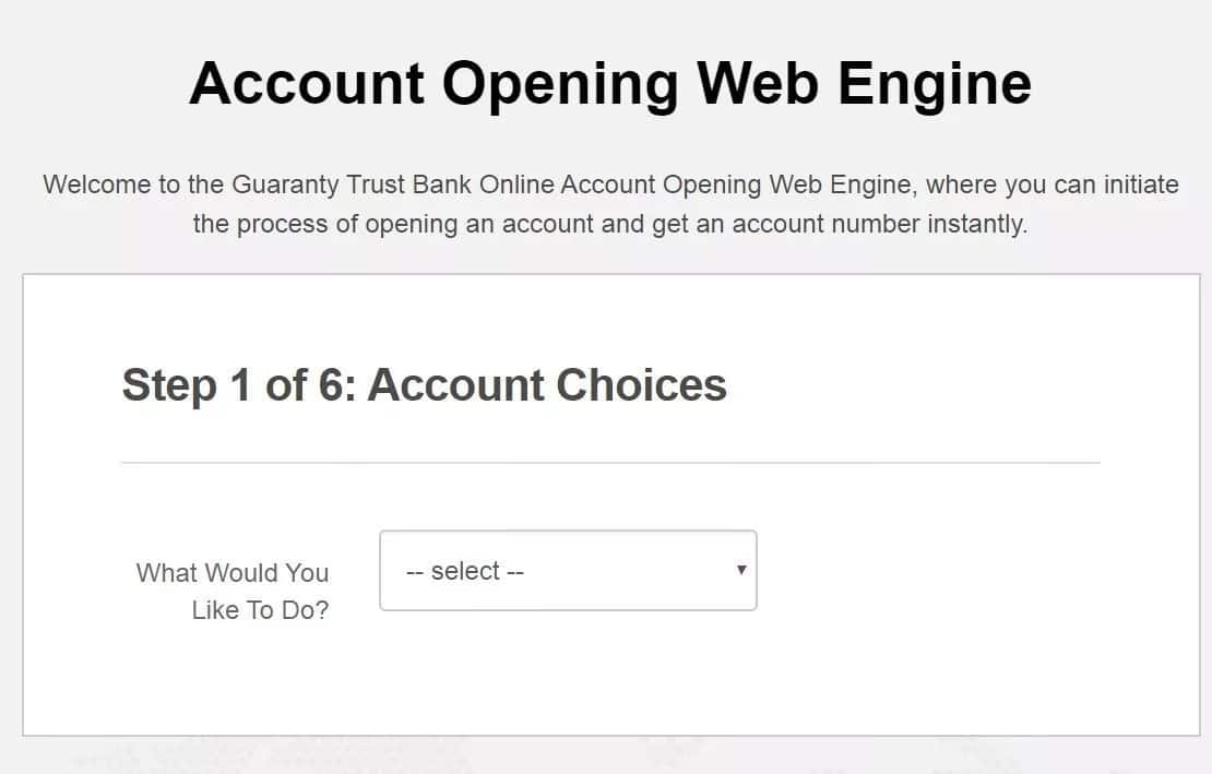 Tips for opening GTB account online