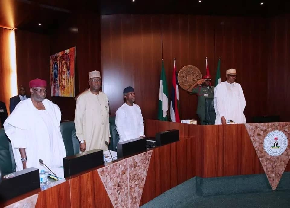 The vice president and the Chief of staff were also present at the meeting. Photo source: Femi Adesina