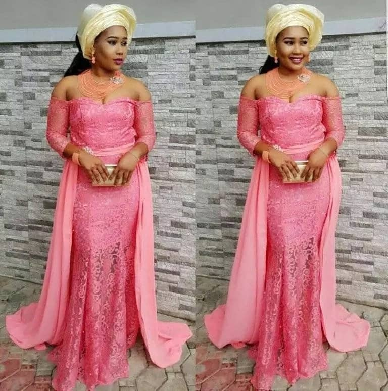 Latest Aso Ebi styles with mermaid skirt