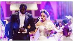 Sharon Oyakhilome's hubby Philip claps back at follower who criticized her wedding dress