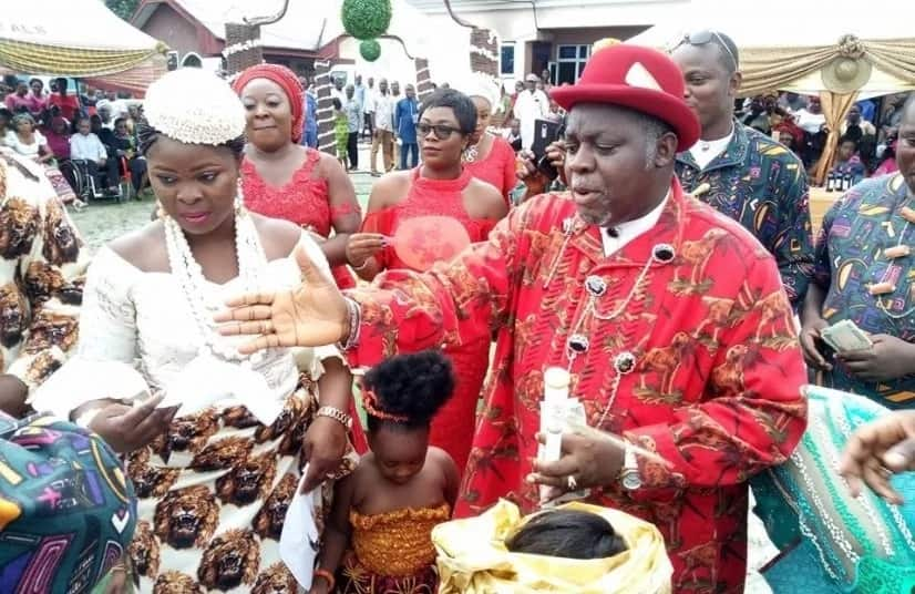 Senator Sekibo gives out daughter Oraye's hand in marriage Source: Facebook, Chigor