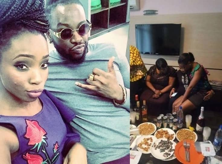 BBNaija: Teddy A throws surprise birthday party for BamBam (photo)