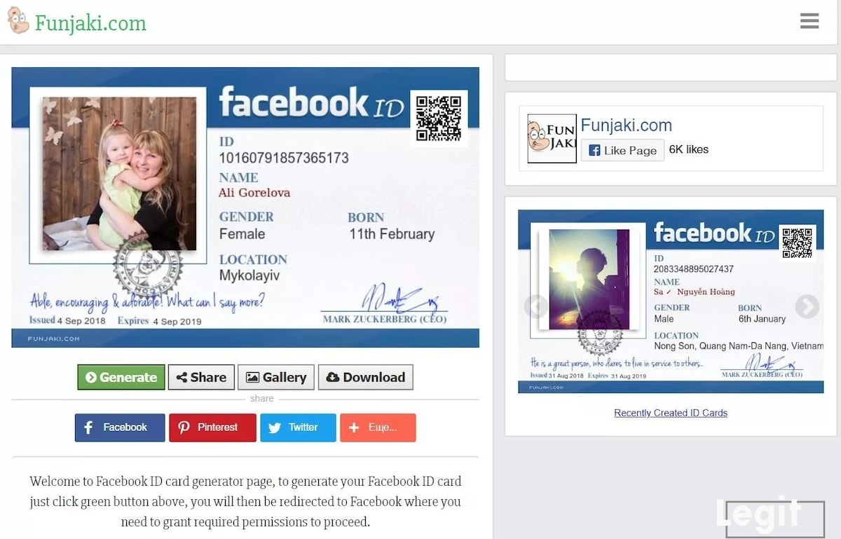 How to make Facebook ID card with Funjaki