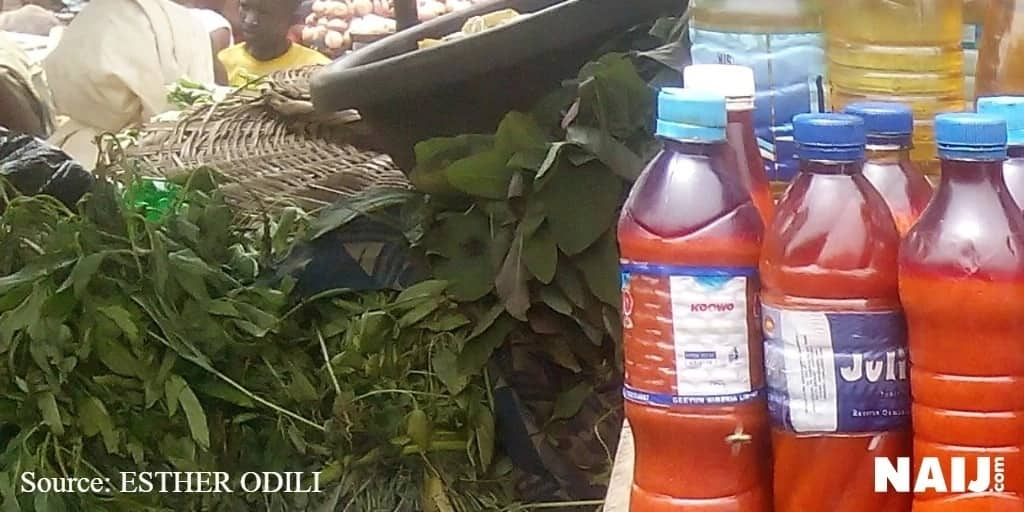 The prices of groundnut-oil and palm-oil crashes further in Lagos markets. Photo credit: Esther Odili