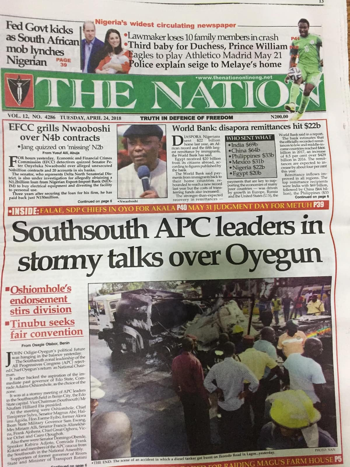 Newspaper review: PDP urges National Assembly to sanction Buhari over $1bn