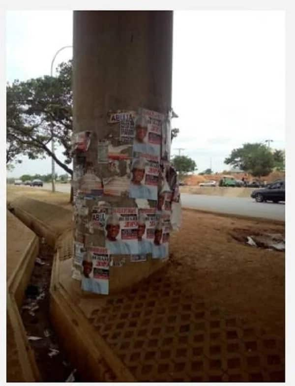 Buhari 2019 posters spotted in Abuja (SEE)
