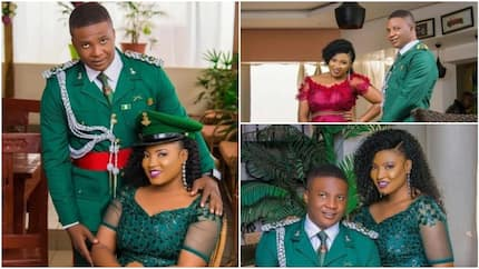 Sweet pre-wedding photos of Nigerian military officer and his gorgeous bride-to-be