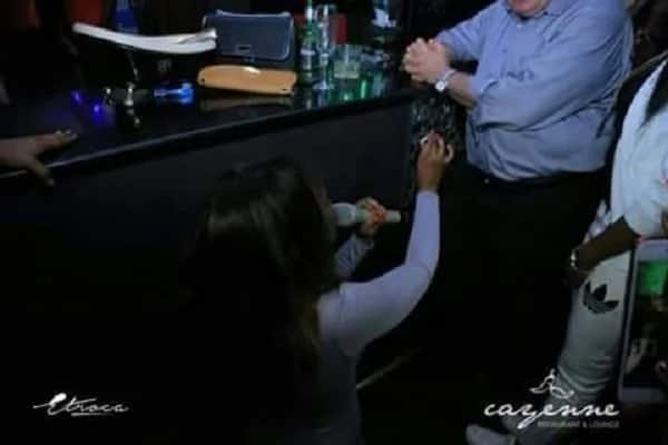 Beautiful lady proposes to her older oyinbo man