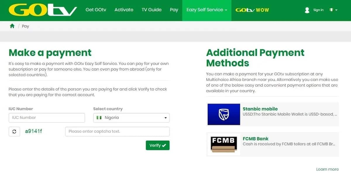 How to pay for GoTV online in Nigeria? ▷ Legit ng