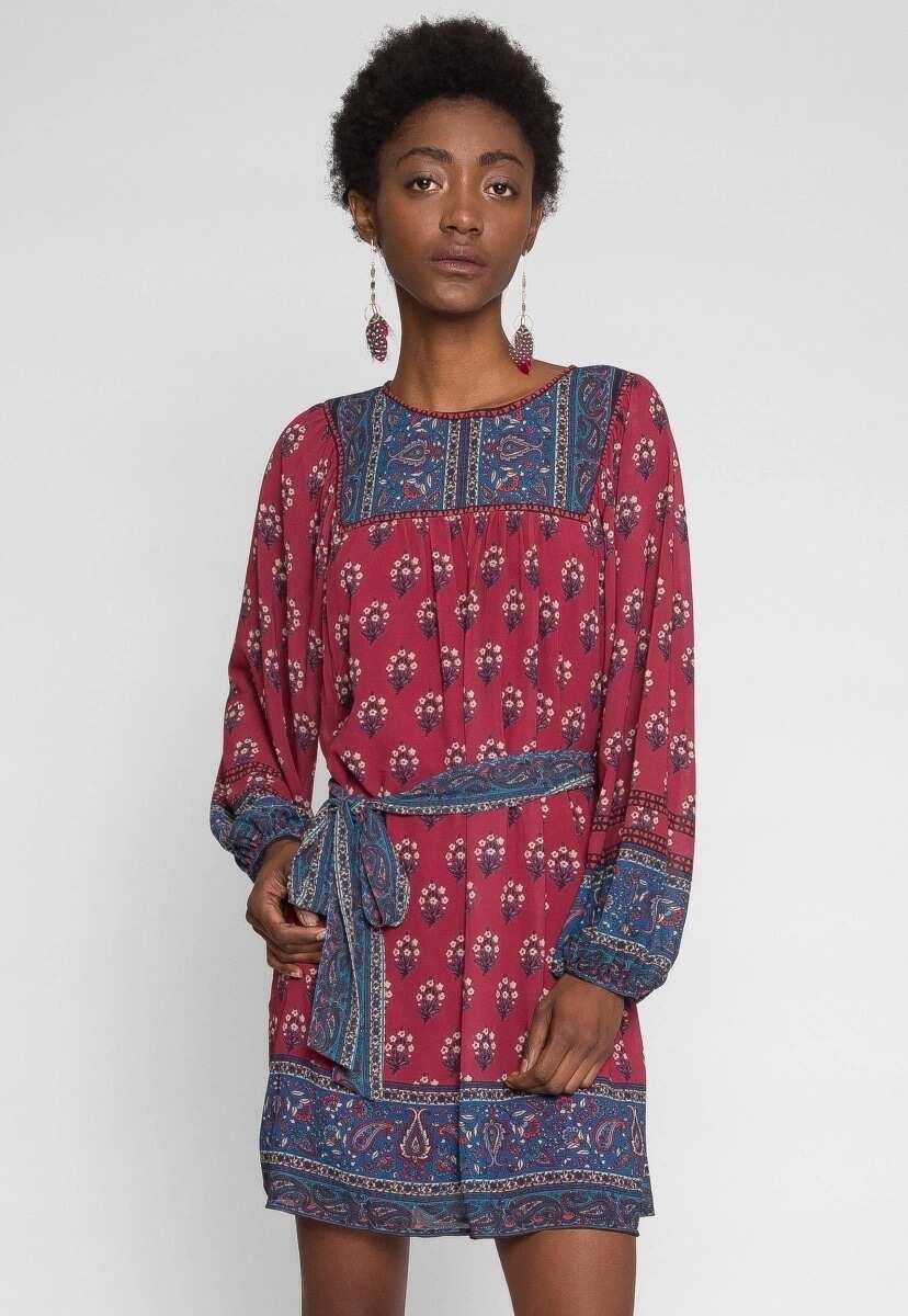 Short chiffon tunic gown