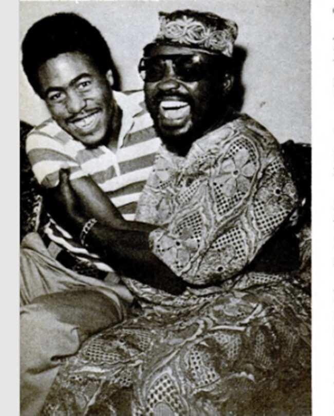 Olabisi Ajala with son