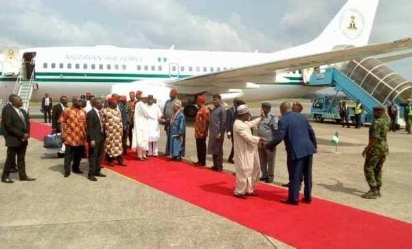 Breaking: President Buhari lands safely in Ebonyi state