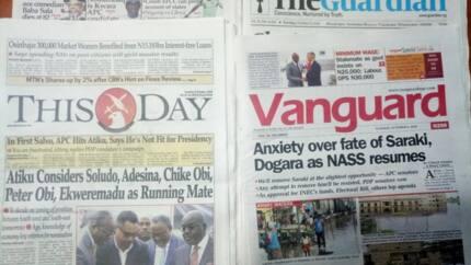 Newspaper review: Tension over Saraki, Dogara's fate as NASS resumes