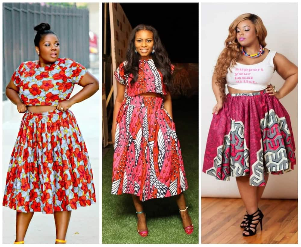 Ankara skirt and blouse suit each woman