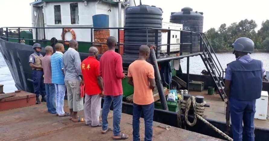 Navy seizes 1.2m litres diesel, arrest six suspected smugglers