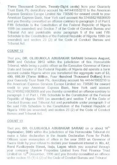 CCB Files 13-Count Corruption Charge Against Bukola Saraki