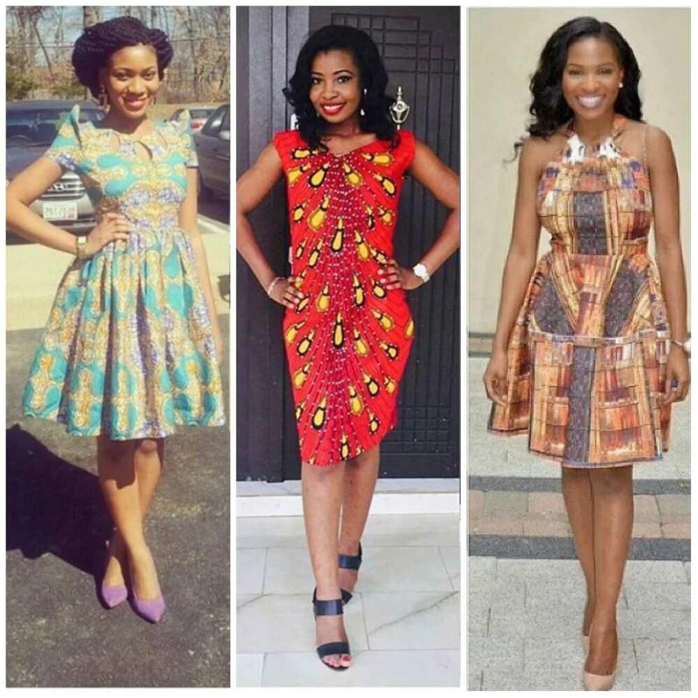 ca976d6349807f Ankara short dresses for bright ladies ▷ Legit.ng