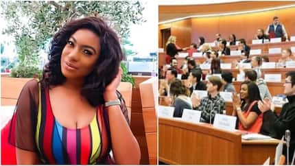 Chika Ike gets spotted in Harvard Business School (photo)