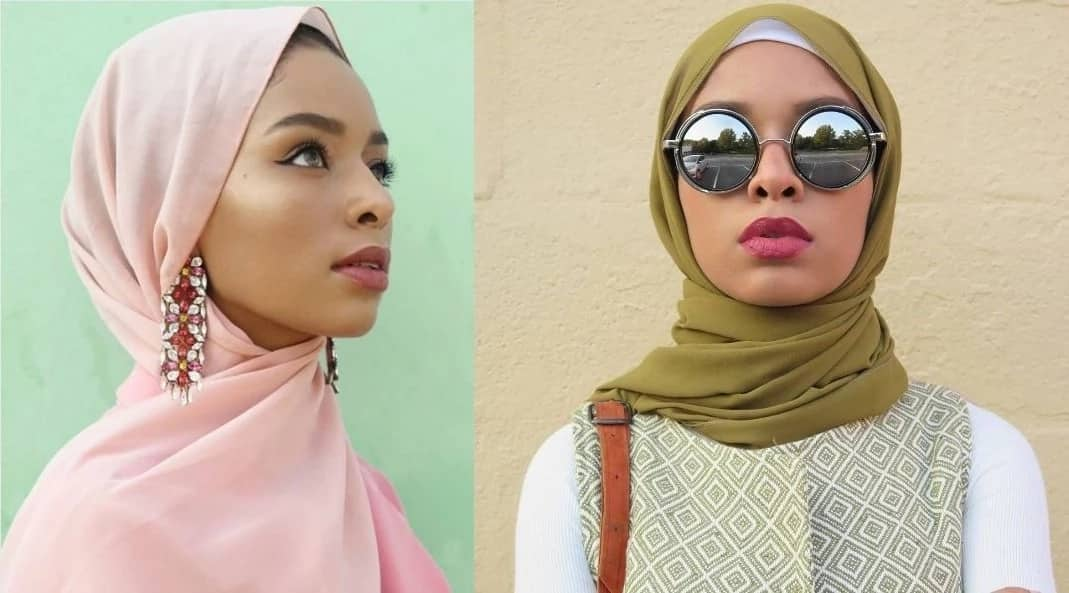 Hijab styles for square face shapes