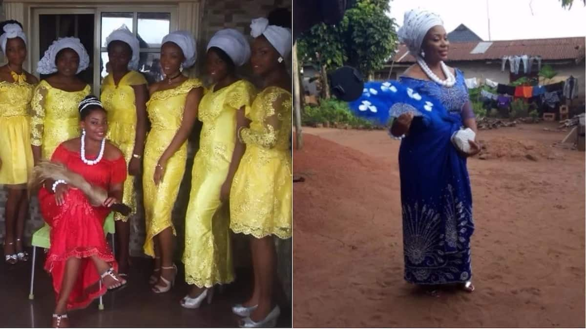 Nigerian lady Cynthia Brown Ajomiwe shares beautiful photos from her traditional wedding
