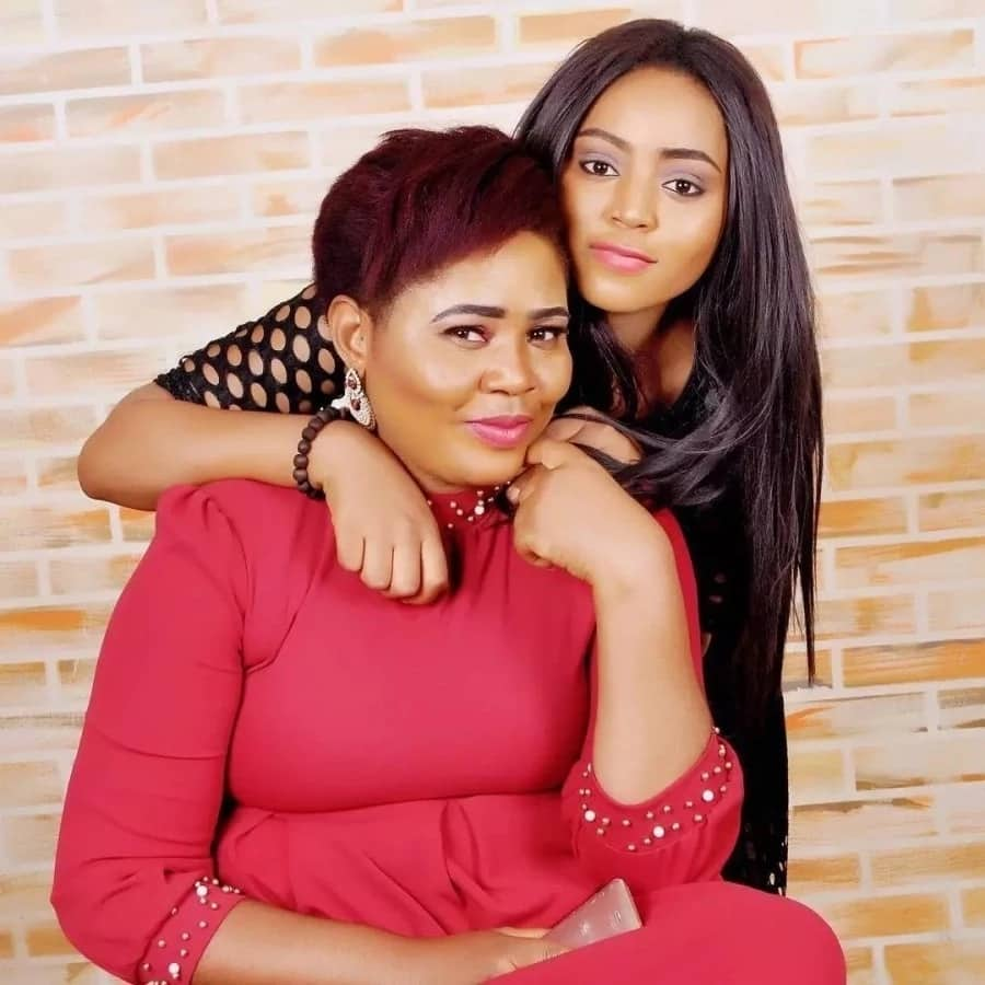 Regina Daniels and her mother