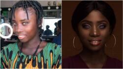 Abuja based makeup artist transforms groundnut seller into beautiful lady (photos)