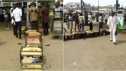 Generator owners queue to buy fuel as scarcity bites harder (photos)