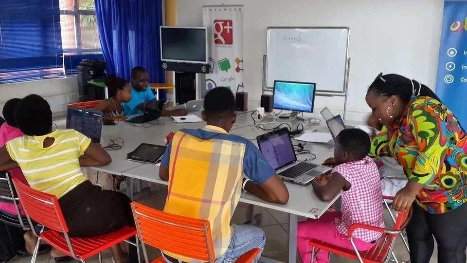 Kids using ICT gadgets