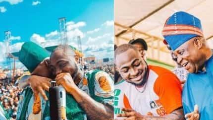He is alive and healthy - Davido reacts to the rumoured death of his uncle Senator Adeleke