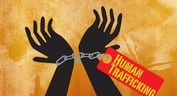 What are the major causes of human trafficking in Nigeria?