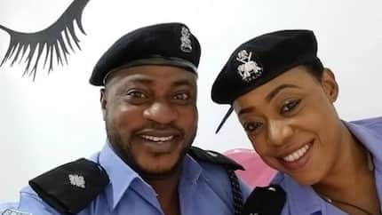 Odunlade Adekola teases fans with a photo in police uniform