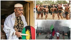 Biafra pressure: Monstrous Mma Agu pays Nnamdi Kanu a visit (Video)