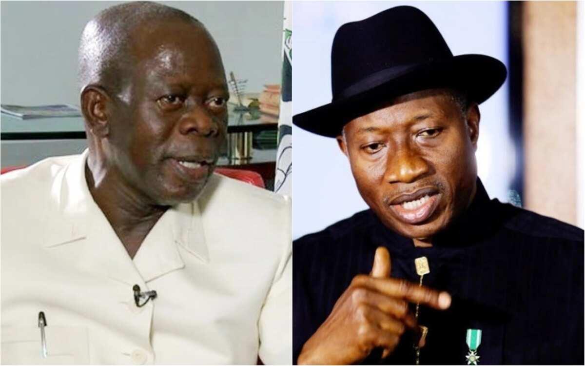 Babbar magana: Jonathan ya saka ayar tambaya a kan lafiyar hankalin Oshiomhole