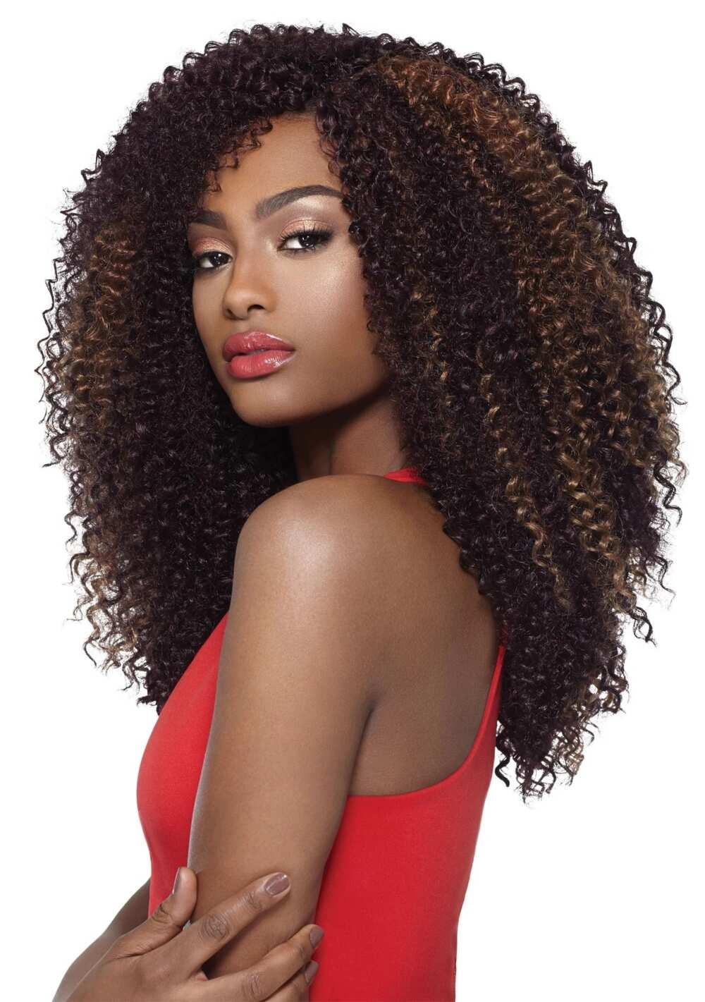 Shiny small curls' crochet braids
