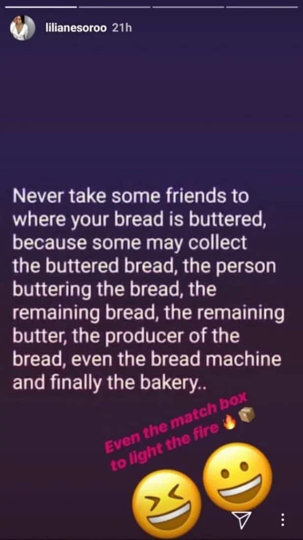 Never take some friends to where your bread is buttered - Actress Lilian Esoro says