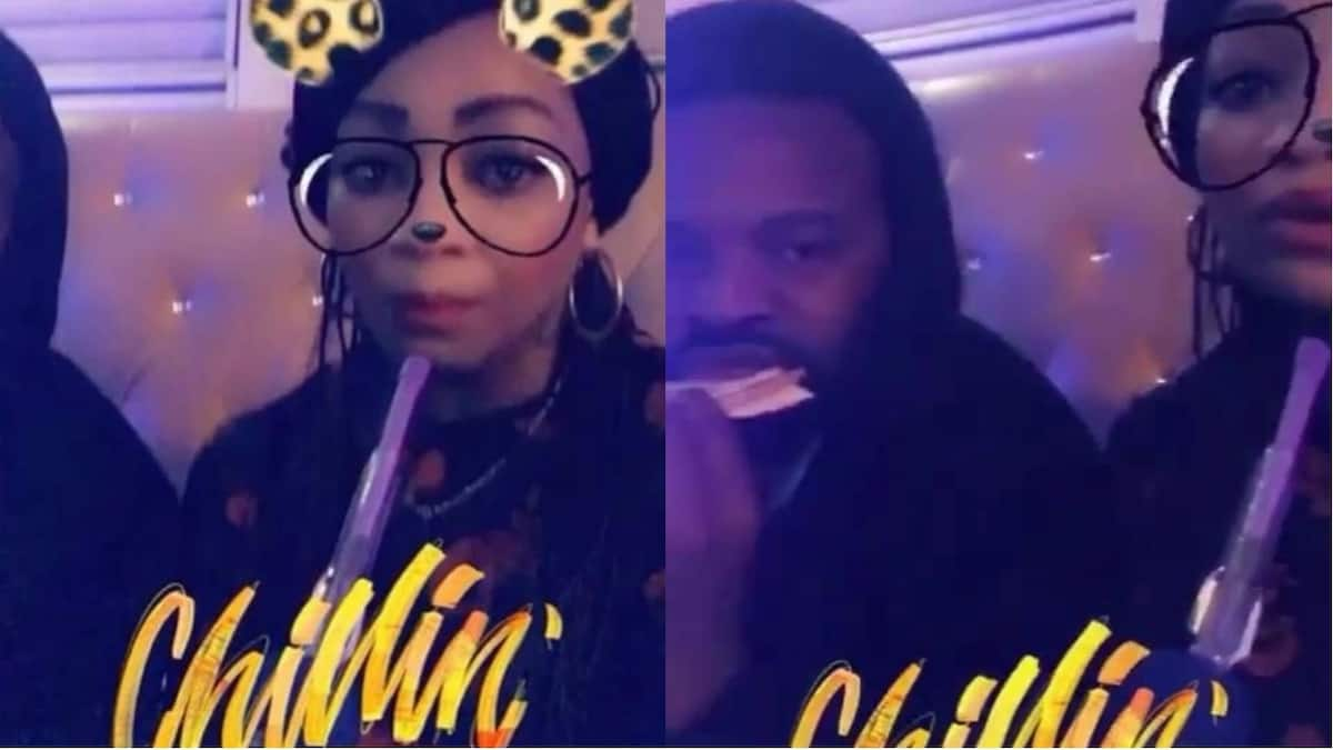 Newlyweds Gabriel Afolayan and wife spotted smoking shisha together