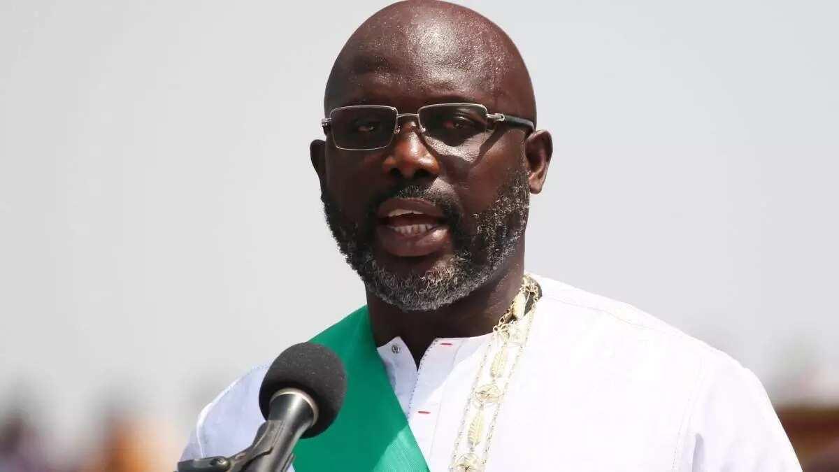 Yanzu-yanzu: Shugaba Buhari ya karbi bakuncin shugaban kasan Liberia, George Weah