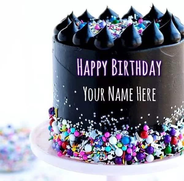 Beautiful Chocolate Birthday Cake With Name Design