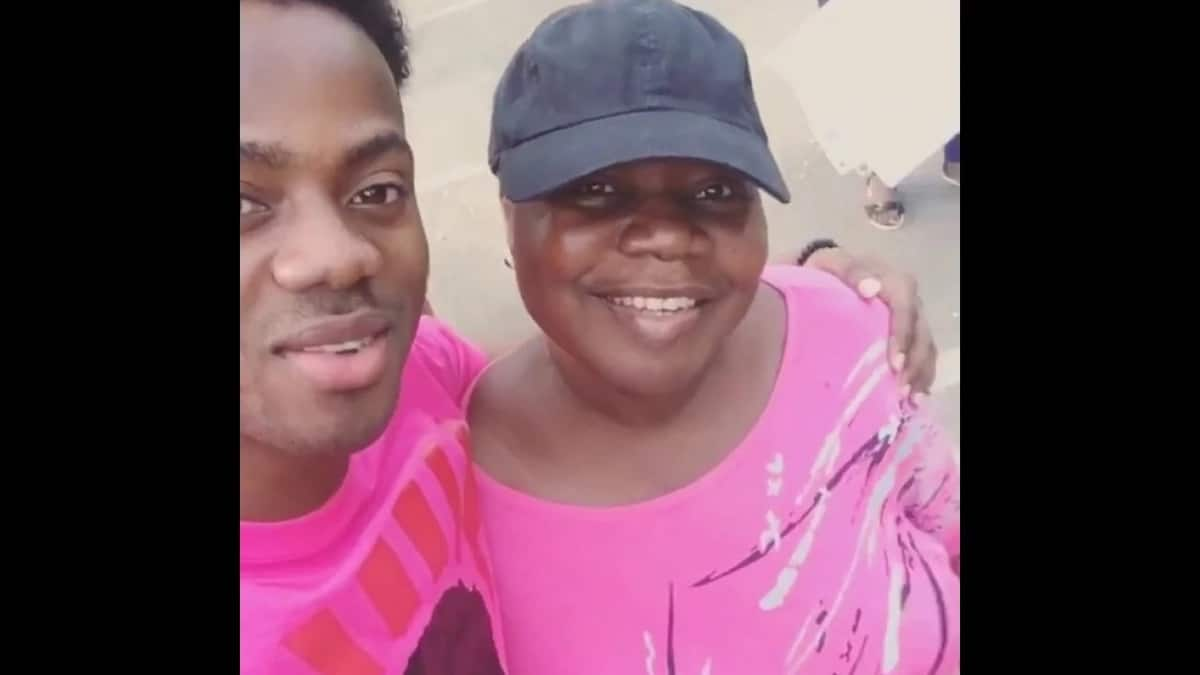 Korede Bello and his mother