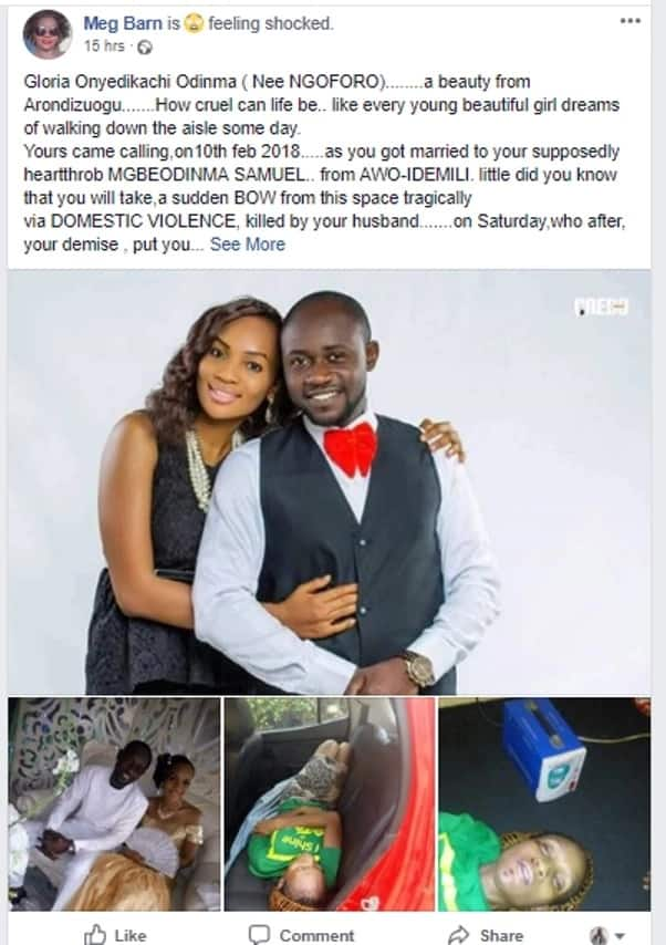 How Mgbeodinma Samuel beat his wife Gloria Onyedikachi Obinna to death 4 months after they got married (photos)