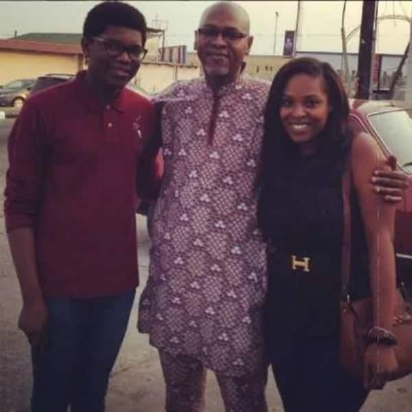 Mo Abudu 's children with their father