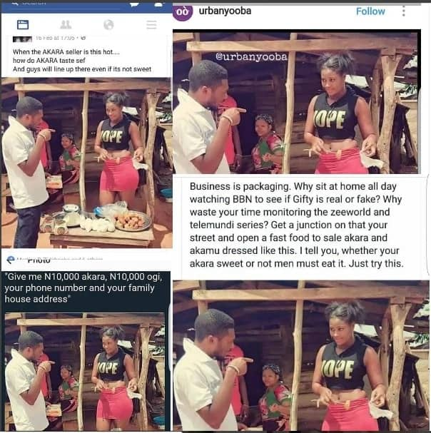 """Trending photo of the day: akara seller is actress, """"Chizzy Alichi"""""""