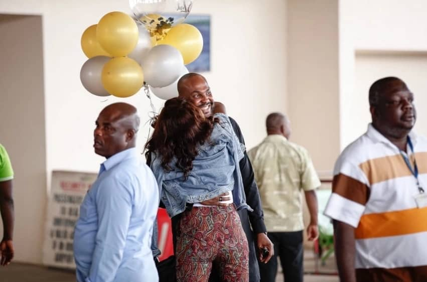 Ex-BBAfrica star Vimbai surprises Nigerian boyfriend in Ghana for his 32nd birthday