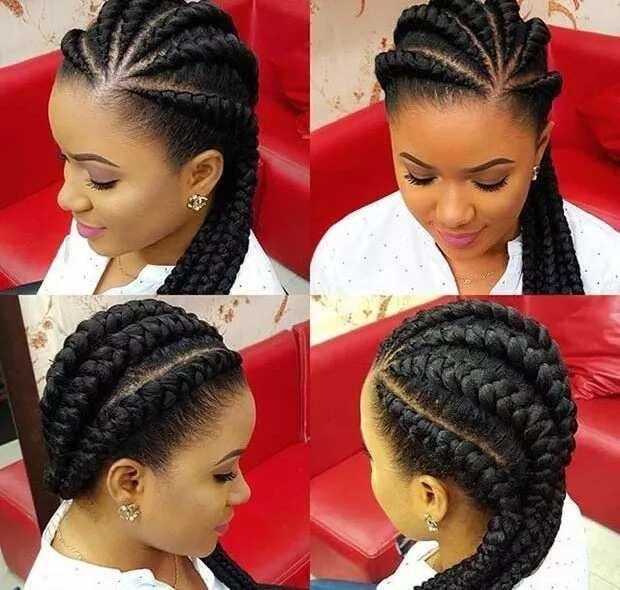 All back braids