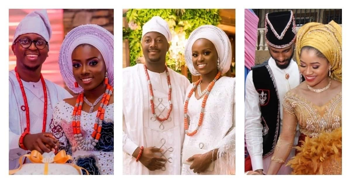 Bella Naija traditional wedding attire