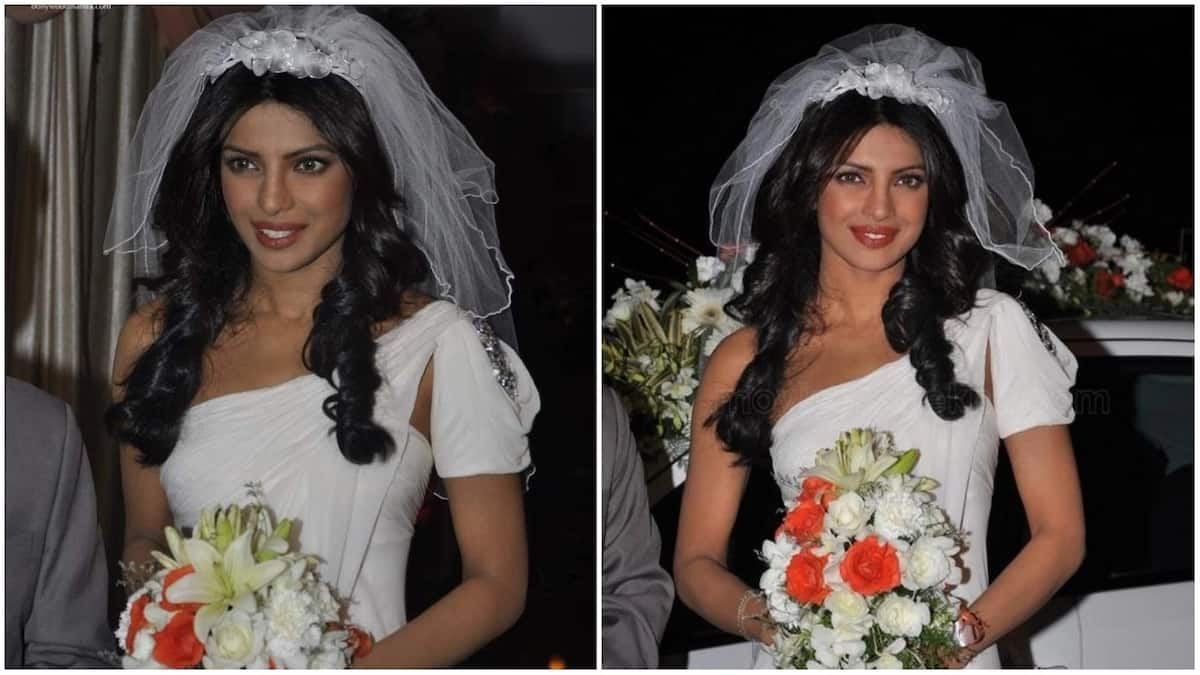 Priyanka Chopra in a wedding dress