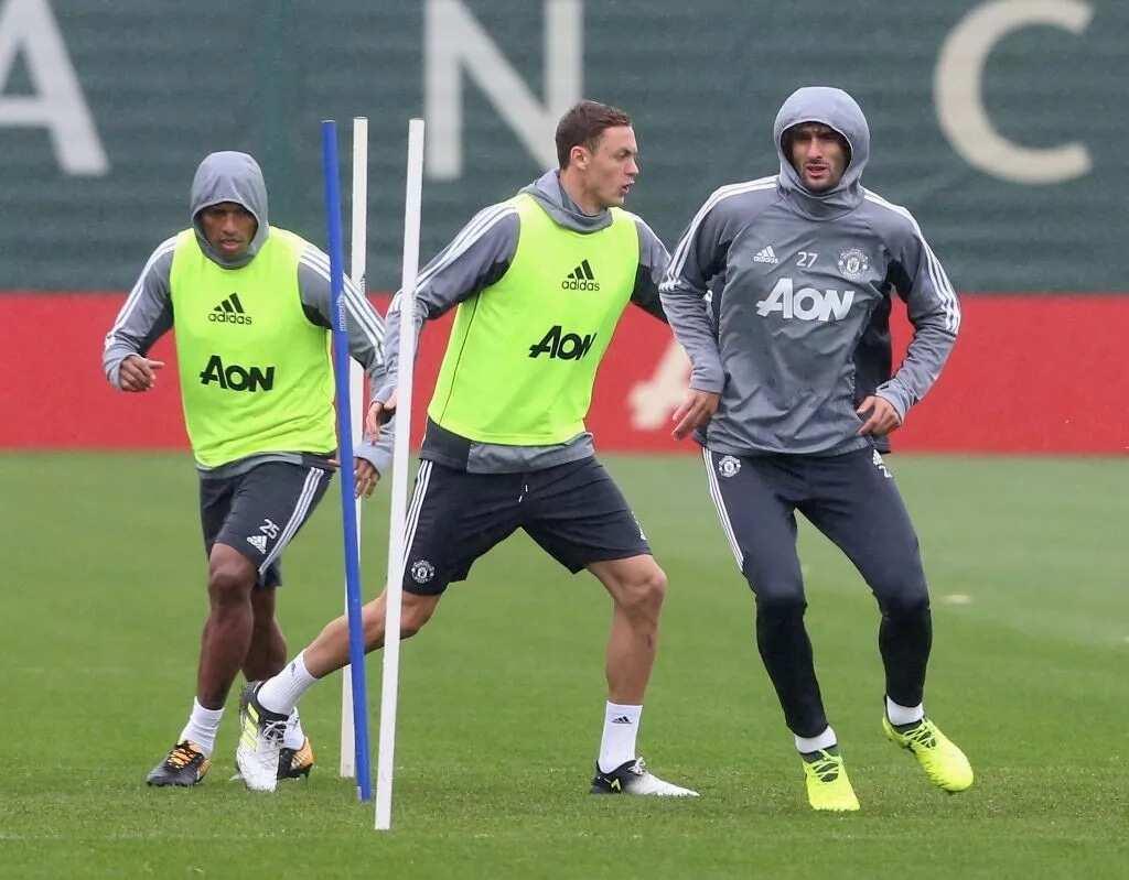 Nemanja Matic and Antonio Valencia resume full training with Manchester United